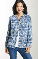 J. Jill Textured cotton print jacket