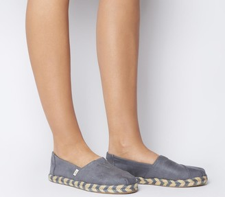 Toms Alpargata Rope Slip Ons Grey Rope Sole Exclusive