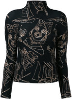 Issey Miyake printed jumper - women - Polyester - One Size