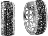 Effy Jewelry Effy Caviar 14K White Gold Black and White Diamond Earrings, 1.30 TCW