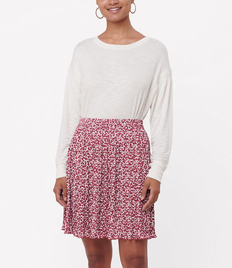 LOFT Floral Pleated Skirt