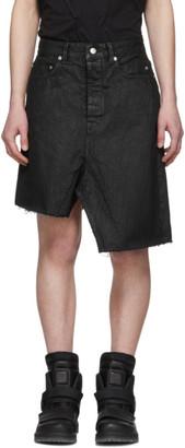 Rick Owens Black Sisyskirt Shorts