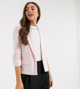 Miss Selfridge Petite ponte blazer in light pink