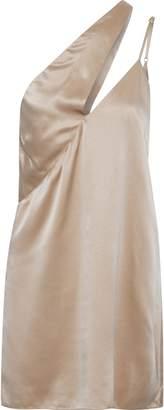Mason by Michelle Mason One-shoulder Cutout Silk-charmeuse Mini Dress
