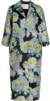 ADAM by Adam Lippes Opera Oversized Floral-jacquard Coat - Blue