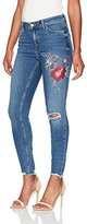 New Look Women's Blossom Stud Embroidered Skinny Jeans