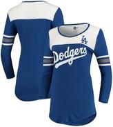 New Era Los Angeles Dodgers Women's 3/4-Sleeve V-Neck T-Shirt - Royal