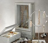 Pottery Barn Zoe Wood Jewelry Display Cabinet