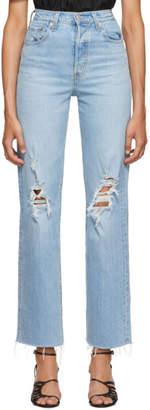 Levi's Levis Blue Ribcage Straight Jeans