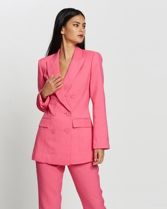 Mossman - Women's Pink Blazers - The Tea Party Blazer - Size 6 at The Iconic