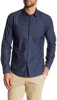 Theory Zack Long Sleeve Print Regular Fit Woven Shirt