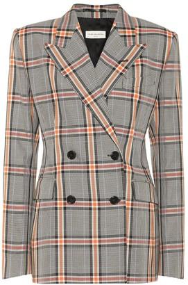 Dries Van Noten Checked cotton-blend blazer