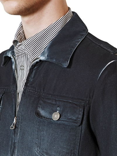 Balmain Degradé Cotton Bull Denim Casual Jacket