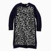 J.Crew Girls' sweater-dress in leopard