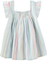 Osh Kosh Smocked Stripe Top