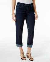 Style&Co. Style & Co. Cuffed Rinse Wash Curvy-Fit Jeans, Only at Macy's