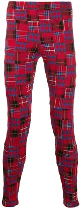 Comme des Garçons Homme Plus Plaid Print Skinny Trousers