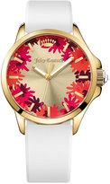 Juicy Couture Women's Jetsetter White Silicone Strap Watch 38mm 1901387