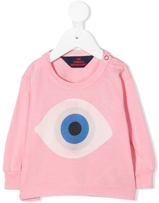 The Animals Observatory eye print long-sleeved T-shirt