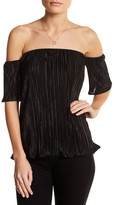 Blvd Accordion Off-The-Shoulder Blouse