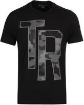 True Religion Camo Applique Jet Black Crew Neck T-shirt