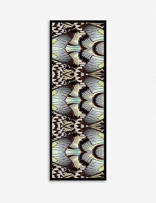 Beatrice Jenkins Blue Swallowtail printed silk-chiffon scarf