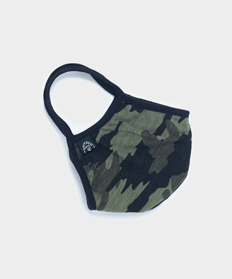 Todd Snyder Cotton Jersey Camo Face Mask in Navy