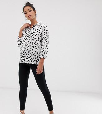 Asos DESIGN Maternity over the bump premium supersoft leggings in cotton modal-Black