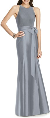 Alfred Sung Jersey Bodice Mikado Trumpet Gown