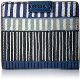 Fossil Emma Rfid Mini Wallet-Navy Stripe