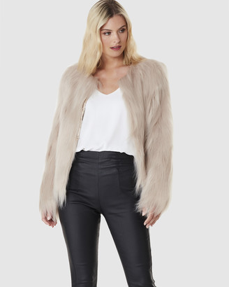 Everly Collective - Women's Neutrals Jackets - Marmont Faux Fur Jacket - Size One Size, XS at The Iconic