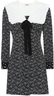 Miu Miu Printed silk minidress