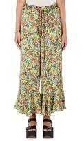 BY. Bonnie Young BY. BONNIE YOUNG WOMEN'S FLORAL SILK RUFFLE PANTS