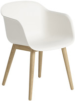 Muuto Fiber Armchair - Wood Base - White