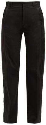 Balenciaga Striped High-rise Trousers - Womens - Black