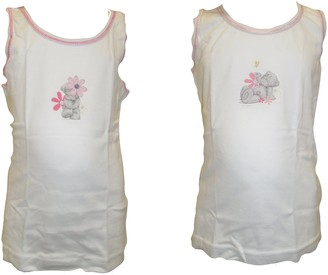 Me To You Girls Twin Pack Vests 2-3 Years White