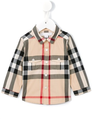 BURBERRY KIDS New Classic Check shirt