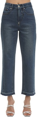 pushBUTTON Straight Leg Washed Denim Jeans