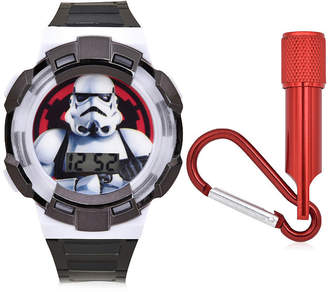 Character Star Wars Boys Digital Black 2-pc. Watch Boxed Set-Stm40010jc