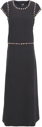 Love Moschino Appliqued Stretch-crepe Maxi Dress