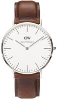 Daniel Wellington Classic St Mawes Silver Watch Tan