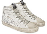 Golden Goose Slide NYC Graphic High Top Sneaker