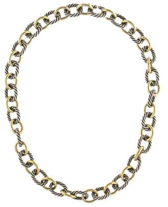 David Yurman Two-Tone Large Oval Link Necklace