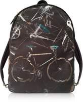 Paul Smith Black Canvas Bike Print Backpack