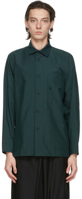 132 5. ISSEY MIYAKE Green Men 3 Shirt