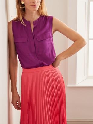 Boden Petronella Silk Blend Sleeveless Top