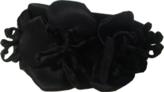 Black Satin Flower Headband