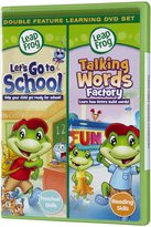 Leapfrog Let's Go To School + Talking Words Factory Double Feature DVDs