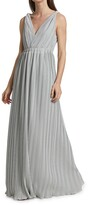 Thumbnail for your product : Halston Lana Pleated V-Neck Gown