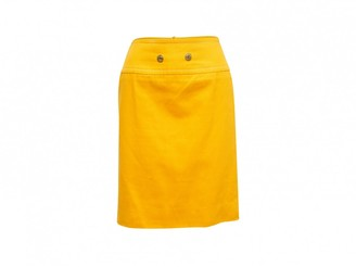 Celine Yellow Denim - Jeans Skirts